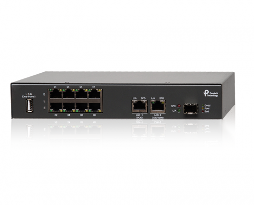 IndoorPlus RTLS Hardware 8port BLE Gateway PEOPLE AND TECHNOLOGY Beacon RTLS and Indoor LBS